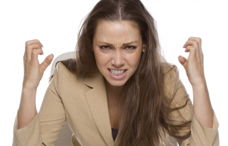 frustrated business woman - website