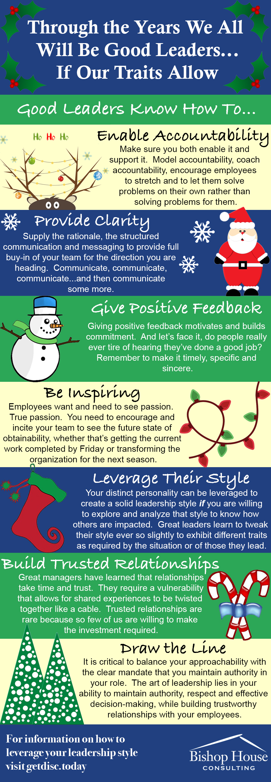 why an explicit leader is as rare as an oak in the desert traits of a good leader holiday infographic