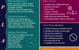 Tips - Strategies - Company - Corporate Retreat Infographic Post Pic