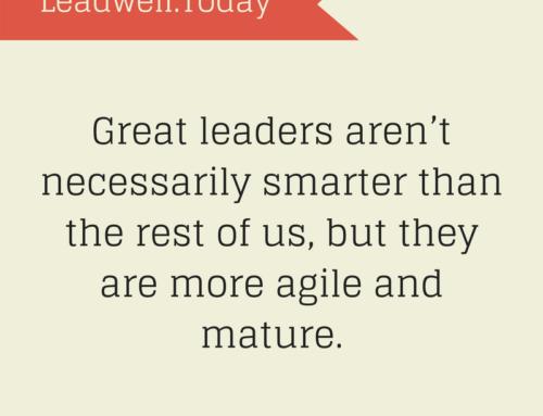 Quote – Great Leaders Aren't Smarter