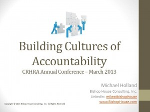 Building Cultures of Accountability - 03-28-2013 - Title Page Only