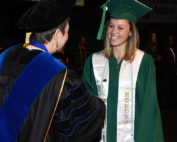 Alyxe Perry receiving her diploma
